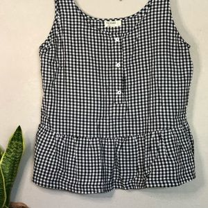 ▫️Anthropologie▫️ gingham black and white top